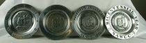 Image of Pewter ashtrays