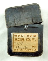 Image of Waltham watch tin