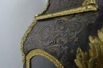 Image of Vincenti Et Cie - Bracket Clock - Scrolling Flourish Detail and damage