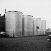 Image of 1973.6.40f - Tanks at St. Helena Cooperative Winery