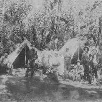 Image of 1978.24.5c - Men camping at Lombardi's Resort