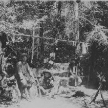 Image of 1978.24.5g - Men camping at Lombardi's Resort