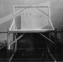 """Image of 1983.18.42h - Hanging platform ready for execution at execution of William """"Billy"""" M. Roe"""