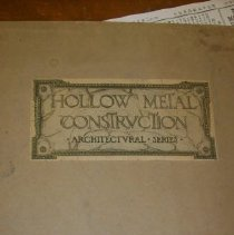 Image of Cover to the Hollow Metal Construction Arch. Series