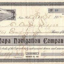 Image of Napa Navigation Company Stock Certificate