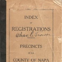 Image of 979.419 Napa - Index of Registrations Precincts of the County of Napa