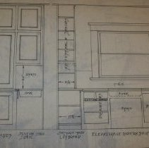 Image of 4. Cupboards and pantry plans for Frank Herstmeyer (Close Up of Cupboards)