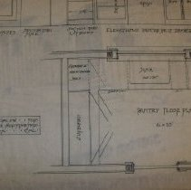 Image of 4. Cupboards and pantry plans for Frank Herstmeyer (Close Up of Pantry Floo
