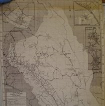 Image of Napa County Street Map 1966