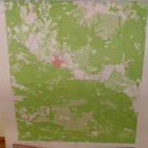 Image of Topography Map of Calistoga, 1958