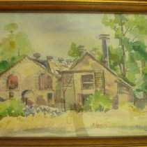 Image of 2011.44.10 - Watercolor of a Building