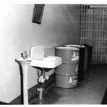 Image of 2011.61.1106 - Prisoner cell at the old jail prior to its demolition in 1975.