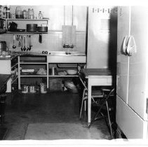 Image of 2011.61.1108 - The kitchen of the old jail prior to the jail's demolition in 1975.