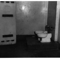 Image of 2011.61.1109 - Toilet facilities at the old jail prior to the jail's demolition in 1975.
