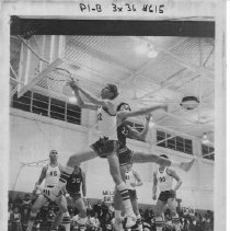 Image of 2011.61.1136 - Basketball game between Justin High School and Calistoga in December 1969.