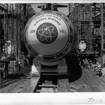 Image of 2011.61.1272 - Nuclear submarine, USS Daniel Boone, at the Mare Island Naval Shipyard @ 1963.