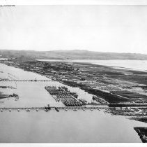 Image of 2011.61.1282 - Aerial view of the Mare Island Naval Shipyard @ 1965