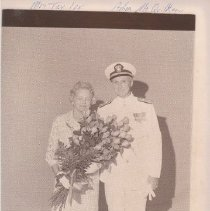 Image of 2011.61.1314 - Mrs. Taylor and Admiral McQuilken at Mare Island Naval Shipyard