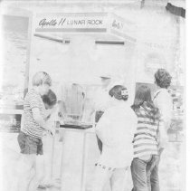 Image of 2011.61.1469 - Youths viewing the Apollo 11 Lunar Rock at the 1972 Napa County Fair