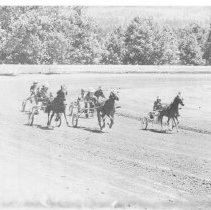 Image of Buggy race at the 1972 Napa County Fair in Calistoga.