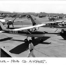 Image of 2011.61.1570 - Airplanes at the Napa County Airport.