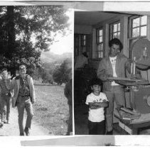 Image of 2011.61.1587 - Left: Boy Scouts on a hike/ Right: Napa Boys Club members