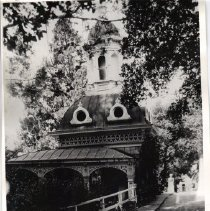 Image of 2011.61.2141 - Vintage photograph of the Pogoda Spring structure at Napa Soda Springs