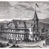 Image of Veterans Home of California drawing ca. 1800s