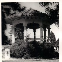 Image of 2011.61.2260 - A gazebo on the grounds of the Veterans Home of California ca. 1960s