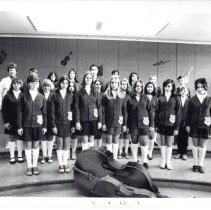 Image of 2011.61.2286 - Presumed members of the Redwood Junior High School band ca. 1970
