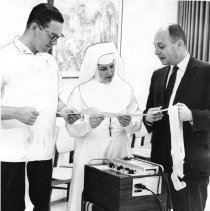 Image of 2011.61.236 - Chief Technician Herman Gold, Sister St. Dominic, Dr. Alvin Lee Block