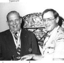 Image of 2011.61.375 - Dr. Jack Jensen with Judge Phil Champlin