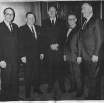 Image of Don Clausen with four other men