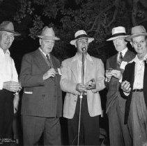 Image of 2011.73.569 - Men at Sawyer Tanning Company 78th Birthday Celebration