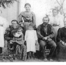Image of Meyer family at their Pope Valley ranch @ 1899.