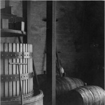 Image of 2013.23.6 - Wine press in Napa Valley Winery