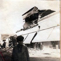 Image of 2013.2.36 - Earthquake damaged Runsford printing press building on Main St