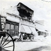 Image of 2013.2.37 - Earthquake damaged Runsford printing press building on Main St