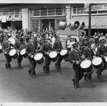 Image of 1980.42.100 - Men's Drum Corps in August Fair Parade