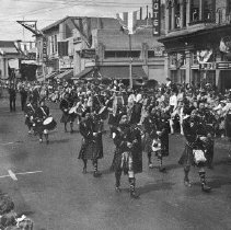 Image of 1980.42.20 - Bagpipe Band in a Napa Parade