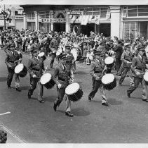 Image of 1980.42.25 - Drum Corps Marching in a Napa Parade