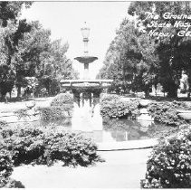 Image of 2014.2.106 - Fountain on grounds of Napa State Hospital