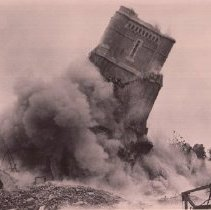 Image of 2014.2.133 - Demolition of tower at Napa State Hospital ca. 1949