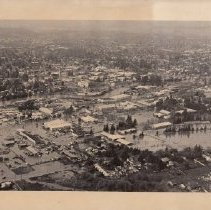 Image of 1986.1.8 - Aerial Photo of Downtown Napa During the 1986 Flood