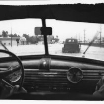 Image of 2007.186.21 - 1955 Flood at Soscol Avenue