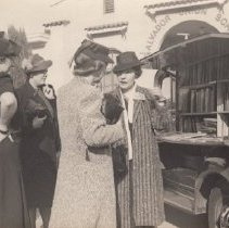 Image of 2011.2.36 - Four Women at Opening and Formal Presentation of Bookmobile