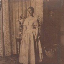 Image of 2007.157.1 - Elizabeth Davis Watson wearing her mother's dress