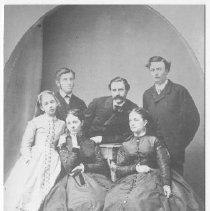 Image of 2008.86.4 - Copy of a family portrait of Davis, Watson, Bucknall, and Sullivan families