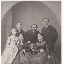 Image of 2008.87.2 - Copy of a family portrait of Davis, Watson, Bucknall, and Sullivan families