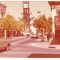 Image of Businesses on First St. at Main St., April 18, 1977